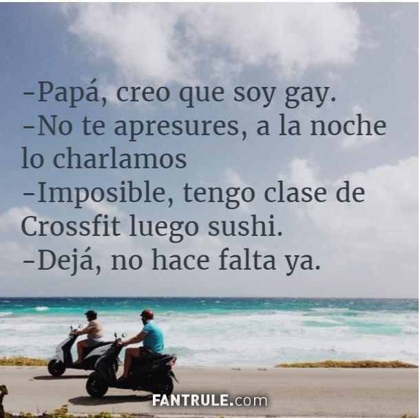 Imágenes graciosas para perfil de Whatsapp Chistosas para muro de Facebook Originales Meme papá soy gay