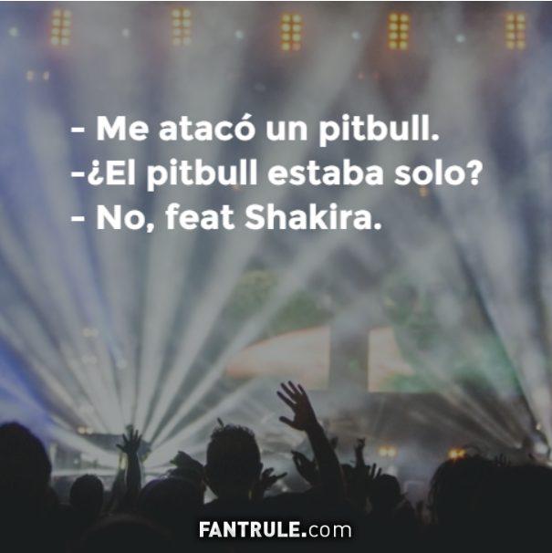 Imágenes graciosas para perfil de Whatsapp Cómicas para muro de Facebook Originales Meme Pitbull Shakira